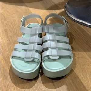 Melissa jelly platform sandals